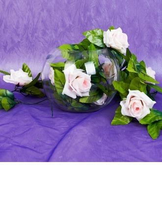 Plastic Rosa vin Wedding Dekoration