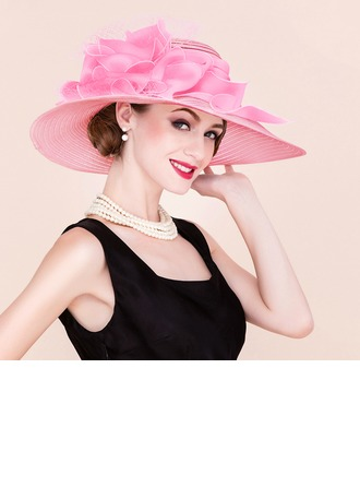 Ladies' Classic/Elegant/Unique Papyrus/Tulle Floppy Hats/Kentucky Derby Hats/Tea Party Hats