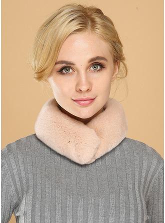 Couleur unie Cou/attrayant/simple Rex Rabbit Hair Écharpe
