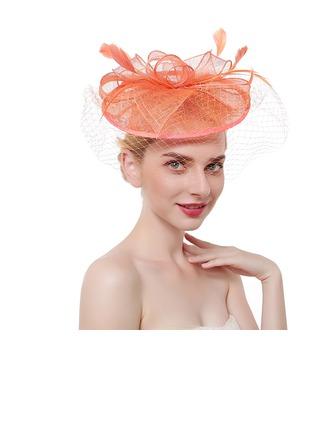 Dames Glamour/Style Classique/Élégante Batiste/Feather avec Feather Chapeaux de type fascinator