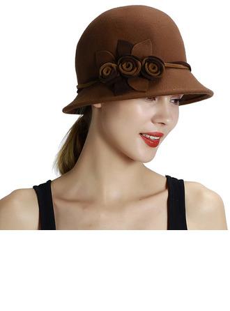 Dames Glamour/Jolie/Romantique Coton Chapeau melon / Chapeau cloche