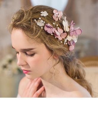 Şık Faux Pearl/İpek Çiçek Çiçekler ve tüyler/Headbands
