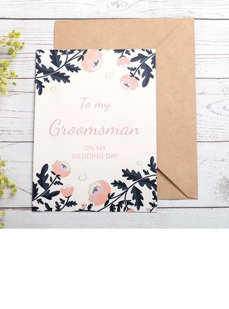 Groomsmen Lahjat - Moderni Paperi-kortti Hääpäiväkortti