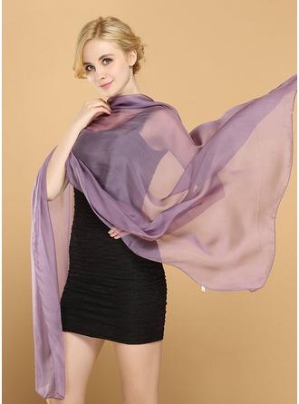Solid färg Lättvikt/mode/enkel Mulberry silke Halsduk