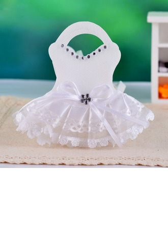 Dress Design Favor Bags With Rhinestone (Set of 12)