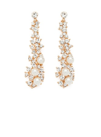 Pretty Aleación/Perla/Diamantes de imitación Señoras' Pendientes