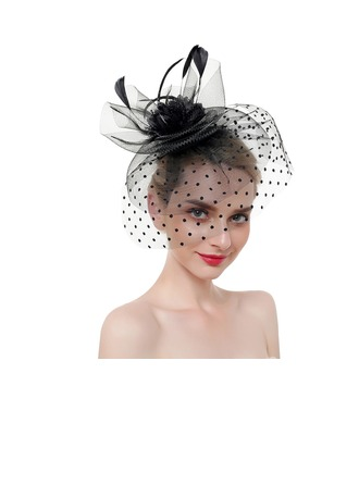 Dames Élégante/Accrocheur/Charme Feather/Fil net avec Feather Chapeaux de type fascinator/Chapeaux Tea Party