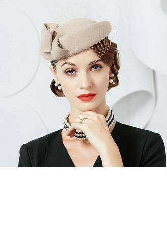 Ladies ' Speciální/Romantický/Umělecký Vlna S Tyl Beanie / Slouchy