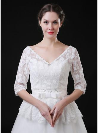 Spets Tyll Wedding Bolerojackor