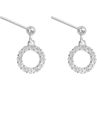 Ladies' Beautiful 925 Sterling Silver Earrings For Bridesmaid/For Friends