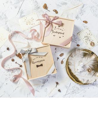 Regali Damigella D'onore - Legno Raso Confezione regalo / borsa