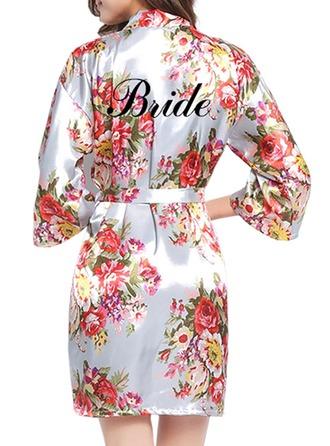 personnalisé la mariée Demoiselle d'honneur Fillette Polyester avec Court Robes personnalisées Robes florales Robes de fille