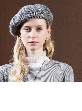 Damen Glamourös/Romantisch/Jahrgang Kaninchen-haar Baskenmütze Hut