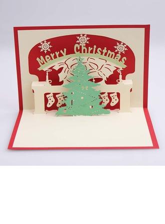 Tredimensionell God Jul Hälsnings Kort