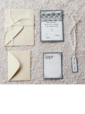 Individualisiert Vintage-Stil Flache Karte Einladungskarten (Satz 10)