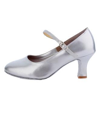 De mujer Cuero Tacones Salón Moderno Sala de Baile Zapatos de danza
