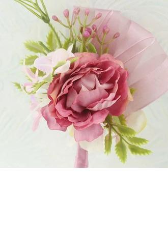 Ručně vázané Umělé Květiny Květinové Soupravy (Sada 2) - Živůtek zápěstí/Boutonniere