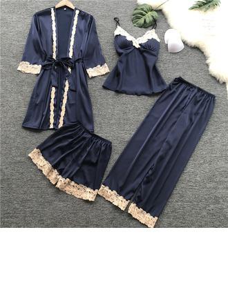 Morsius/Naisellinen Hillitty Silkki Sleepwear setit