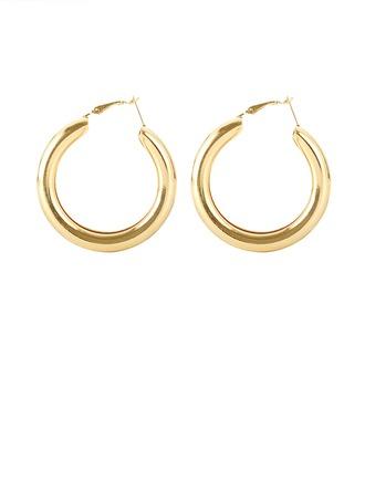 Simple Alloy Women's Fashion Earrings (Sold in a single piece)