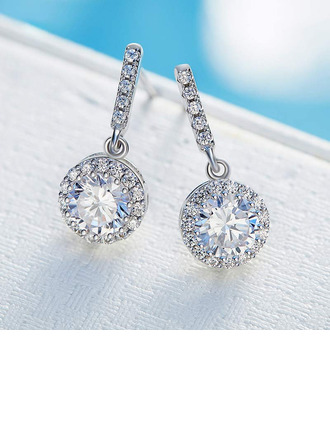 Ladies' Classic Zircon/925 Sterling Silver Cubic Zirconia Earrings For Bride/For Bridesmaid/For Mother