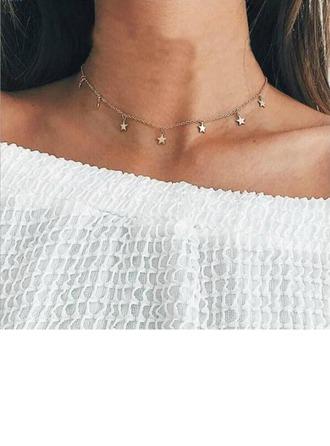 Mode Legierung Damen Mode-Halskette