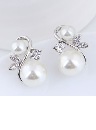 Beautiful Alloy Rhinestones With Rhinestone Women's Fashion Earrings