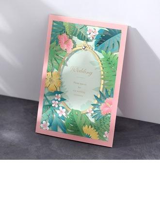 Personlig Klassisk stil/moderne stil Tri-Fold Invitasjonskort (Sett Av 50)