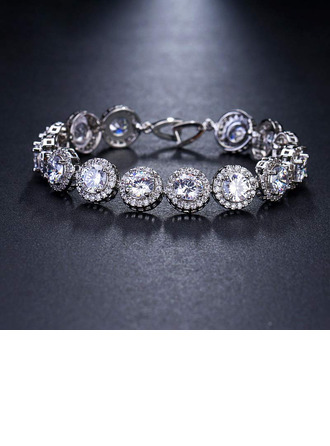 Ladies' Beautiful Alloy/Zircon Cubic Zirconia Bracelets For Bride/For Bridesmaid/For Mother