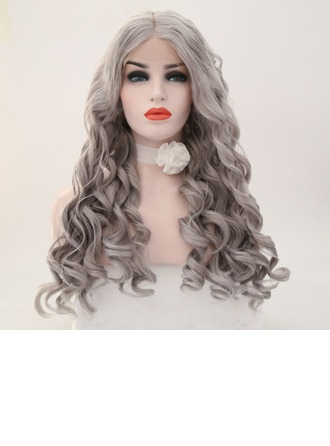 Loose Wavy Synthetic Hair Lace Front Wigs 340g