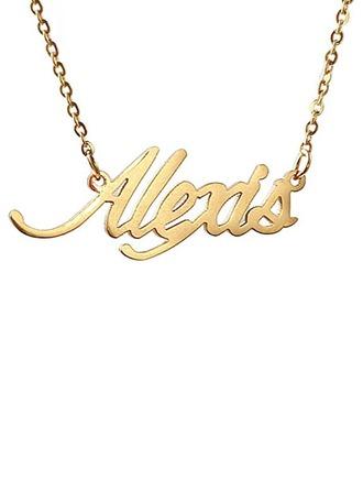 Personalizzata Placcato in oro 18 carati Nome Collana