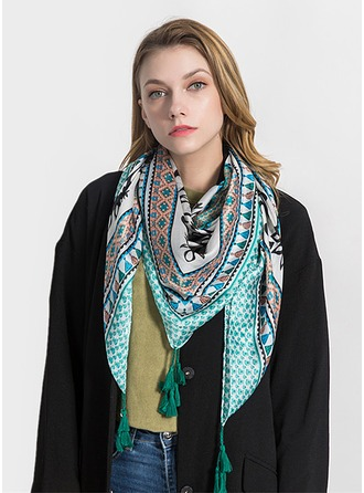 Ретро / год сбора винограда облегченный/негабаритный Шелковые Квадратный шарф