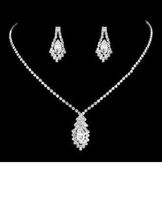 Bakır Ile Yapay elmas/Taşlı Bayanlar Takı Setleri