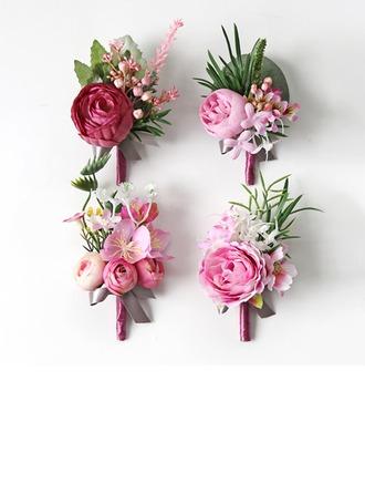 Fascinant Forme libre Tissu Sets de fleurs - Corsage du poignet/Boutonnière