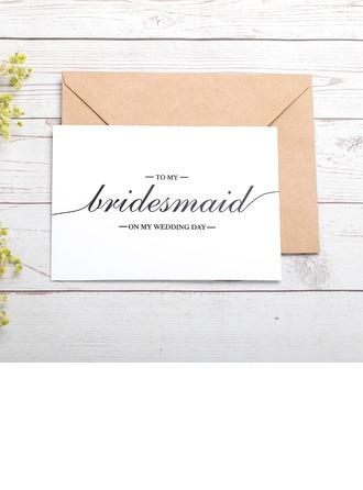 Brudepike Gaver - Vakkert Kort papir Bryllupsdagskort