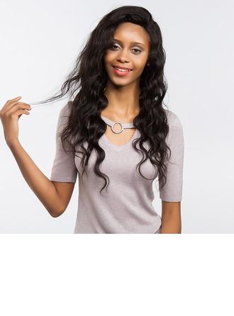 4A non remy Deep Wave Cheveux humains Perruques avant en dentelle 170g