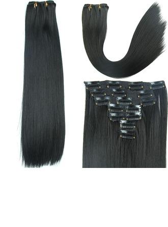 Derecho Pelo sintético Extensiones de cabello con clip 7PCS 150g