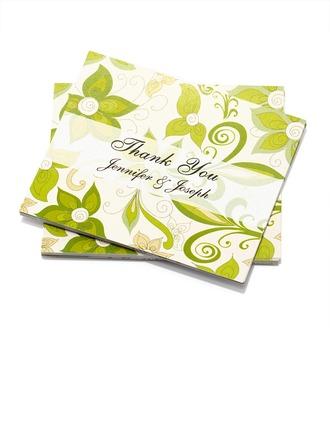 Personlig Blommig Stil Tackkort (Sats om 50)