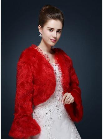 Faux Fur Wedding Wrap