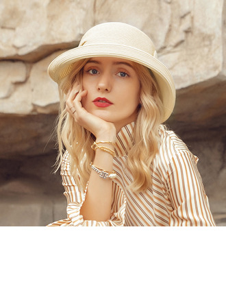 Ladies' Lovely/Elegant Polyester With Bowknot Beach/Sun Hats