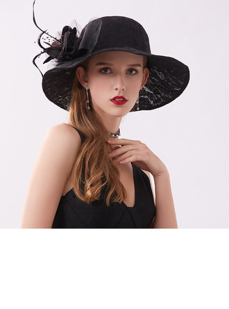 Ladies' Classic/Fancy Lace With Flower Beach/Sun Hats/Kentucky Derby Hats/Tea Party Hats