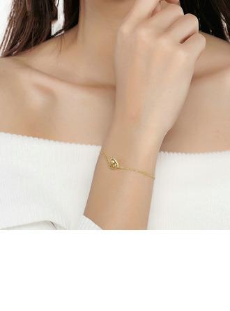 Damen Einzigartig Vergoldet/925 Sterlingsilber Kristall Armbänder Ihr/Freunde