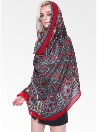 Retro /Jahrgang Leicht Baumwolle Schal