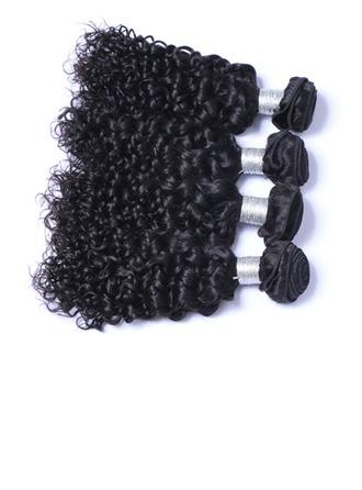 7A Corte primario Rizado Cabello humano Postizo de cabello humano (Vendido en una sola pieza) 100g