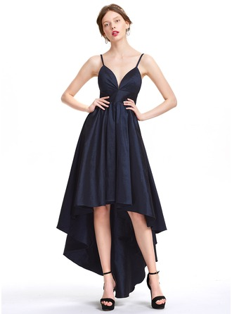 A-Line/Princess Sweetheart Asymmetrical Taffeta Homecoming Dress