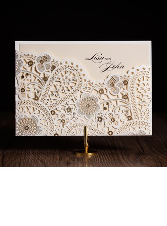 Personalized Artistic Style Wrap & Pocket Invitation Cards