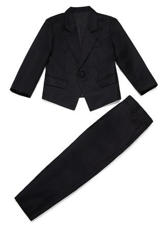 Drenge 2 Stykker Solid Ringbærer-jakkesæt /Side Boy Suits med Jakke Bukser