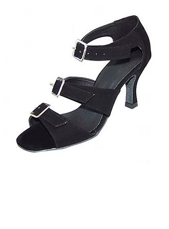 De mujer Nubuck Tacones Sandalias Danza latina Sala de Baile Zapatos de danza