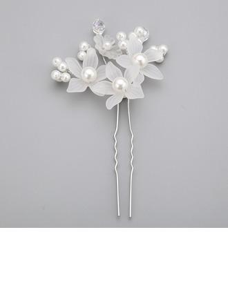 En forma de flor La perla de faux/Acrílico Horquillas (Se venden en una sola pieza)