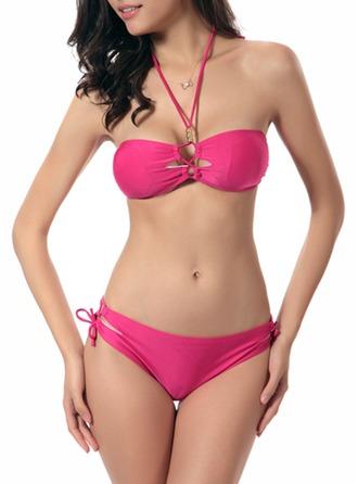 Sexy Color sólido Bikini