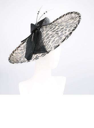 Señoras' Único/Exquisito/Llamativo Batista con mariposa de imitación Derby Kentucky Sombreros/Sombreros Tea Party